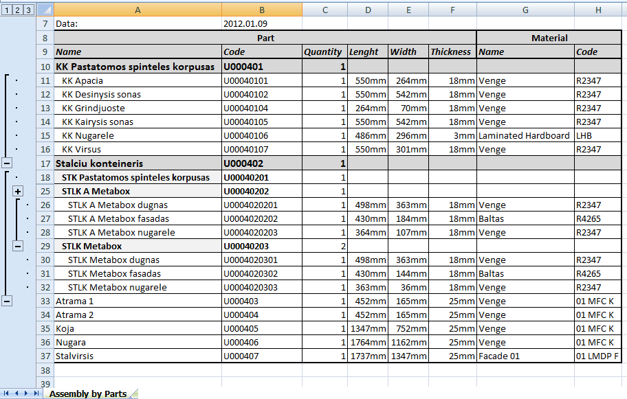 Bill Of Materials Template Excel Kubreforic