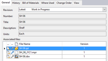 Autodesk Vault integration procedure at BOM level