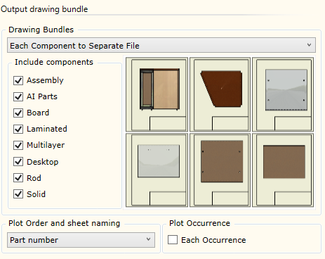 Output drawing bundle